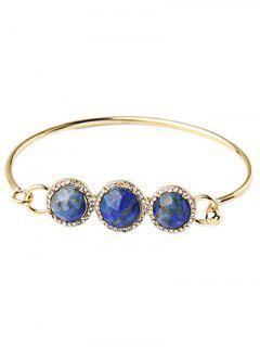 Round Rhinestone Stone Bracelet - Blue