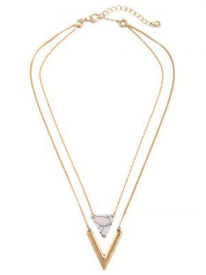 Triangle Stone Layered Necklace