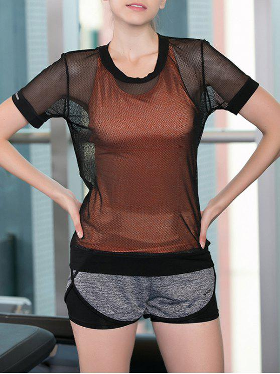 fashion Tank Top and Mesh T-Shirt and Sport Shorts - COLORMIX M
