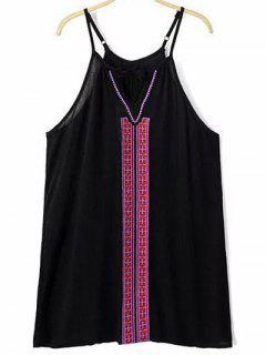 Bordado Vestido De Cami - Negro S