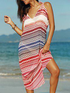 Ethnic Print Cami Chiffon Dress