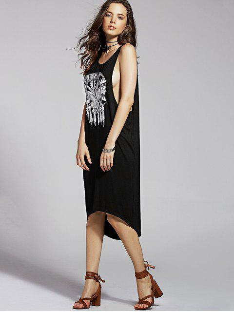 hot Drop Armhole Tank Dress - BLACK L Mobile