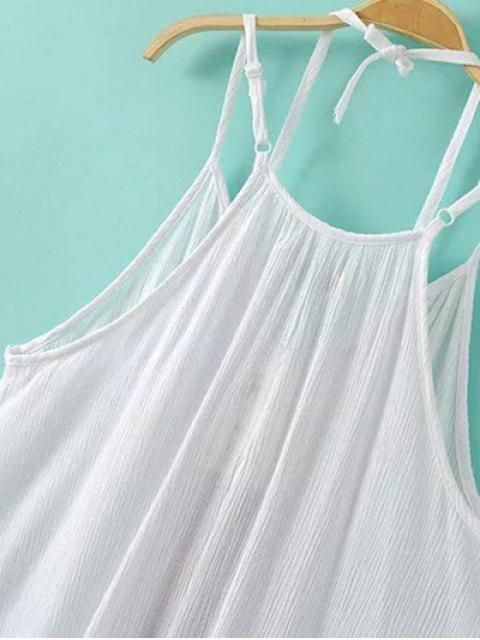 shop Embroidery Cami Dress - WHITE S Mobile