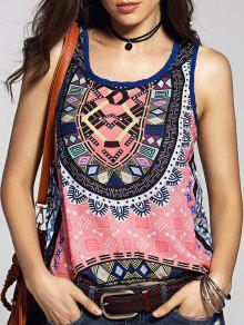Buy Scoop Neck Printed Tank Top - COLORMIX XL