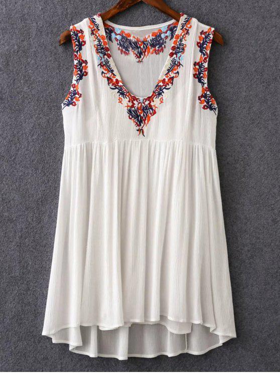 Cami y V-cuello retro vestido bordado de Twinset - Blanco M