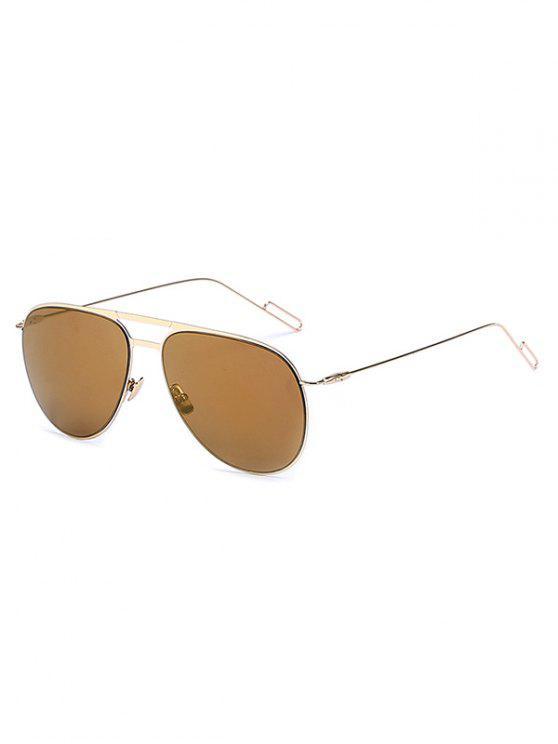 online Golden Mirrored Pilot Sunglasses - TYRANT GOLD