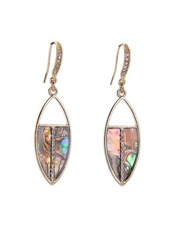 chic Rhinestone Drop Earrings - COLORMIX