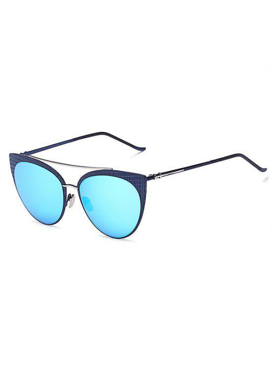 De la tela escocesa con espejo gafas de sol del ojo de gato - Azul Hielo