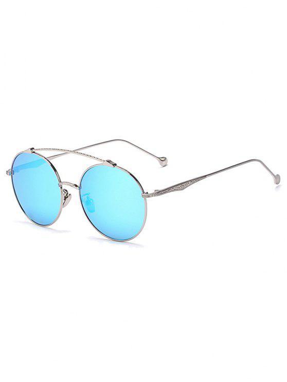Brow Bar-Argent Lunettes de soleil rondes - Bleu Glacé