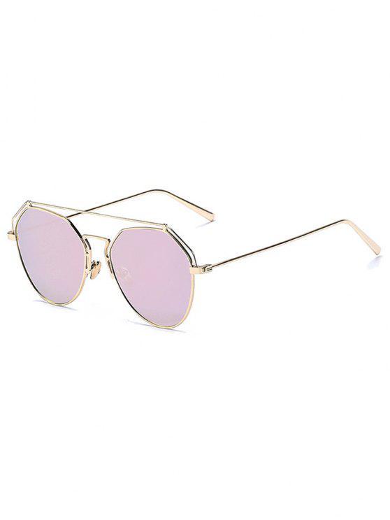 Oro Frente-Bar espejadas piloto gafas de sol - Rosa