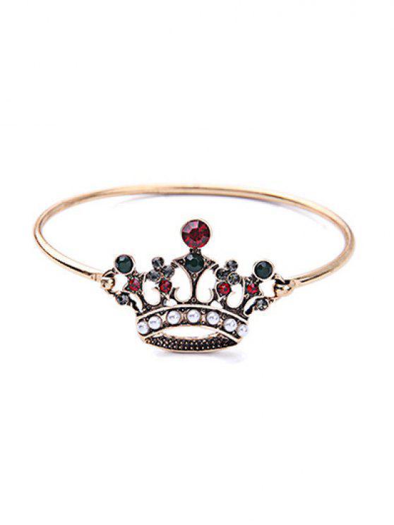 latest Crown Rhinestone Bracelet - COLORMIX