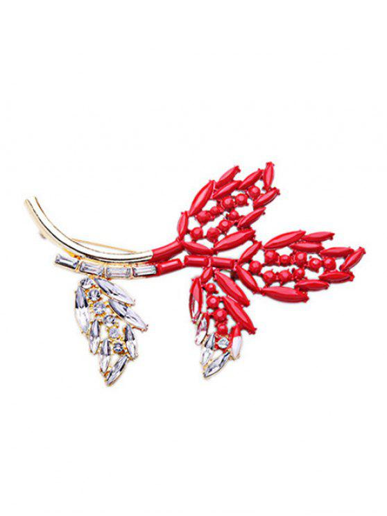 ladies Rhinestone Branch Brooch - COLORMIX