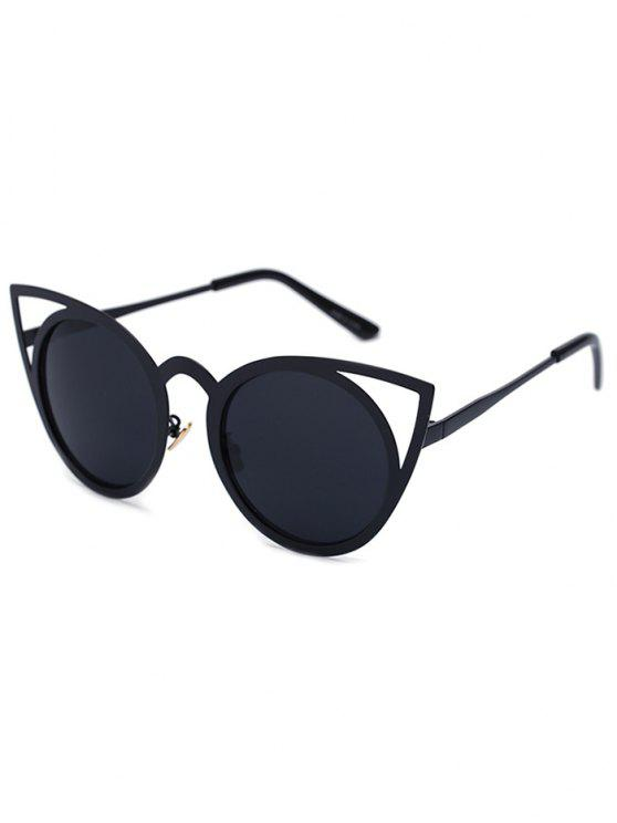 buy Cut Out Black Charming Cat Eye Sunglasses - BLACK