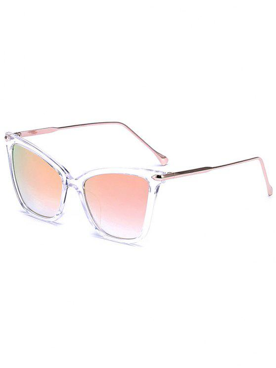 trendy Transparent Mirrored Butterfly Sunglasses - LIGHT PINK