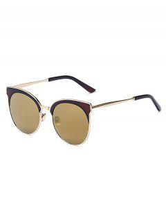 Mirrored Cat Eye Sunglasses - Tyrant Gold