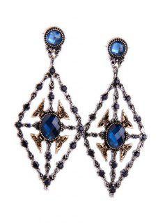 Rhombus Faux Sapphire Earrings