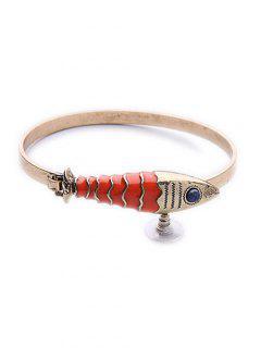Stone Fish Bracelet - Golden
