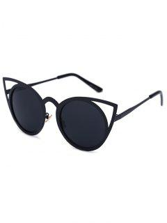 Découpez Out Noir Sexy Cat Eye Sunglasses - Noir