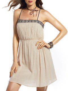 Lace Spliced Cami Dress - S