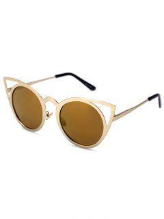 Recortable De Oro Del Gato De Los Ojos Gafas De Sol - Déspota Oro