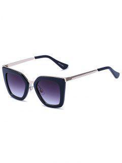 Gafas De Sol De Color Negro Mate Irregulares - Negro