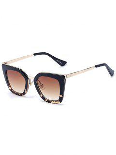 Leopard Match Black Irregular Sunglasses - Black