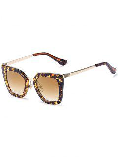 Flecky Irregular Sunglasses - Amber