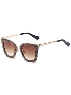 Wood Grain Irregular Sunglasses - Coffee