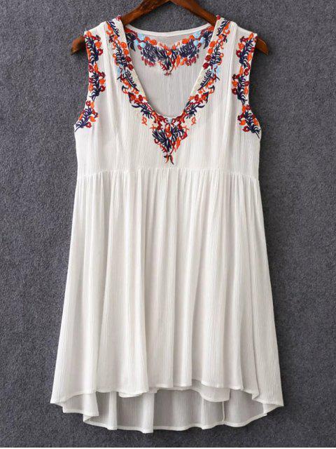Cami y V-cuello retro vestido bordado de Twinset - Blanco M Mobile