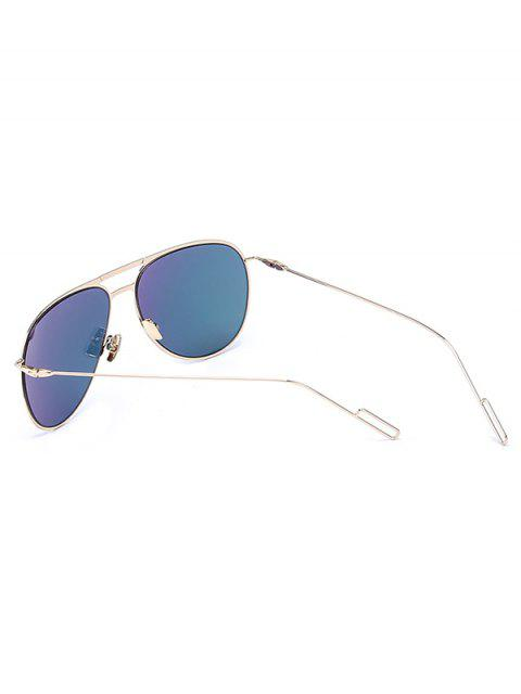 best Golden Mirrored Pilot Sunglasses - PINK  Mobile