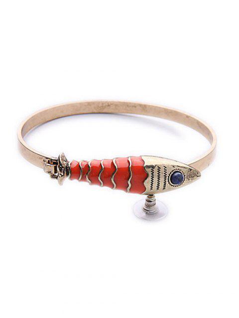 fashion Stone Fish Bracelet - GOLDEN  Mobile