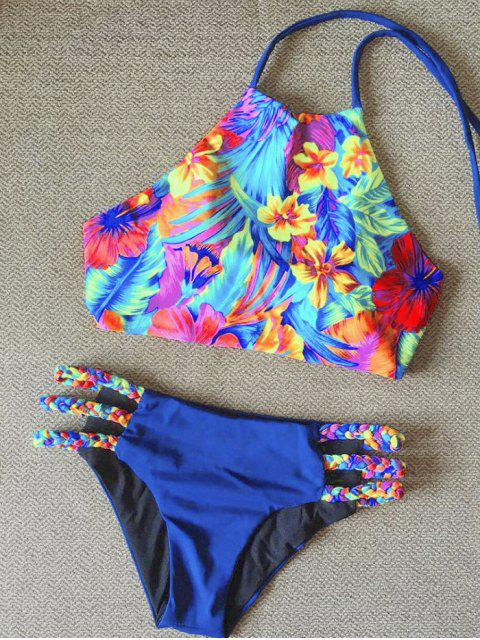 best High Neck Braided Bikini - COLORMIX L Mobile
