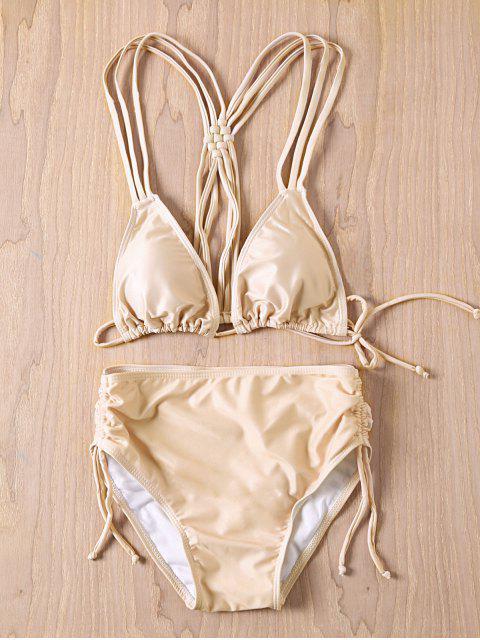 hot Nude Cami Bikini Set - NUDE L Mobile