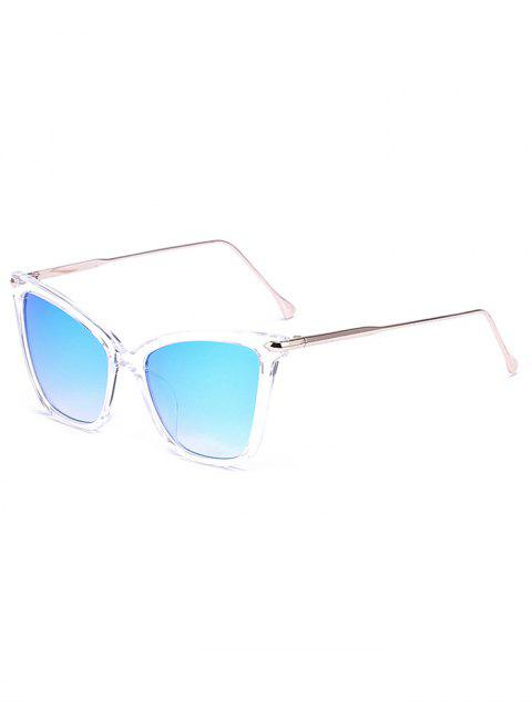 fashion Transparent Mirrored Butterfly Sunglasses -   Mobile