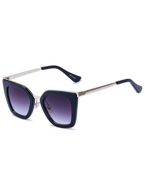 unique Matte Black Irregular Sunglasses -   Mobile