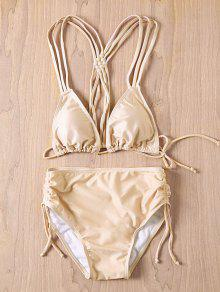Nude Cami Bikini Set - Nude S