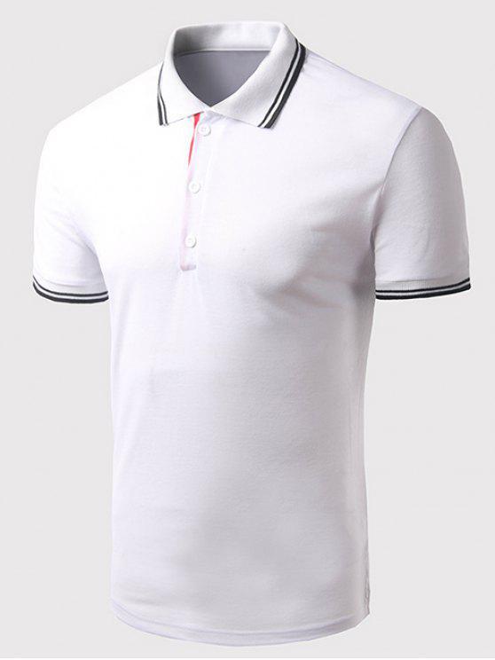 Turn Down Kragen Solid Color Mit Kurzen Armeln Polo T Shirt Fur