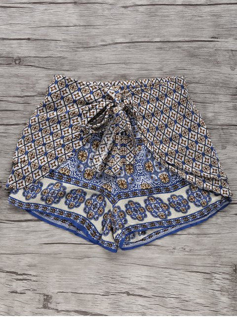 best Bohemian Printed Wide Leg Shorts - COLORMIX L Mobile