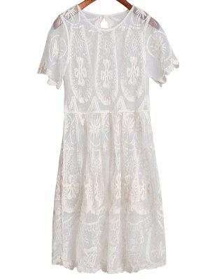 Sheer Lace Skirted Cover Up