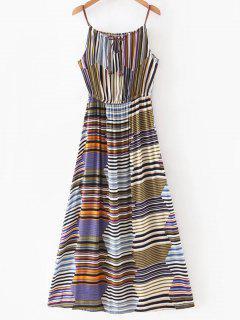 Robe Maxi Rayée Multicolore - Xl