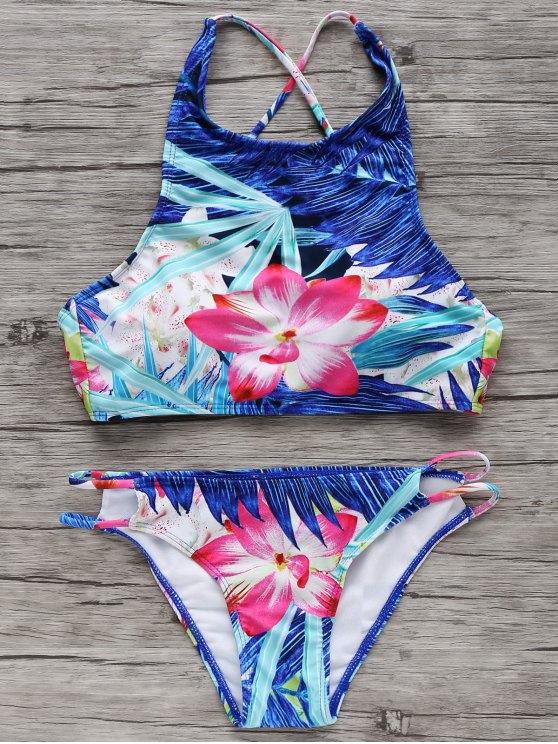 40014c2490 High-Neck Tropical Bikini Set COLORMIX  Bikinis XL