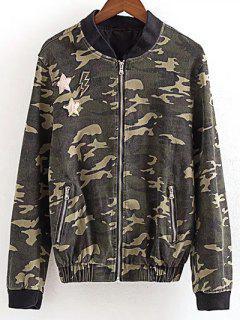 Zip Pocket Camo Jacket - Camouflage S