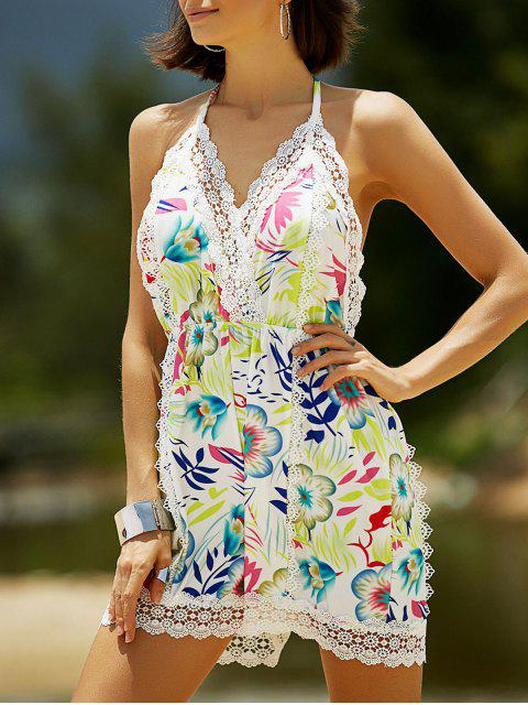 Blumendruck Halter Playsuit - COLORMIX  M Mobile