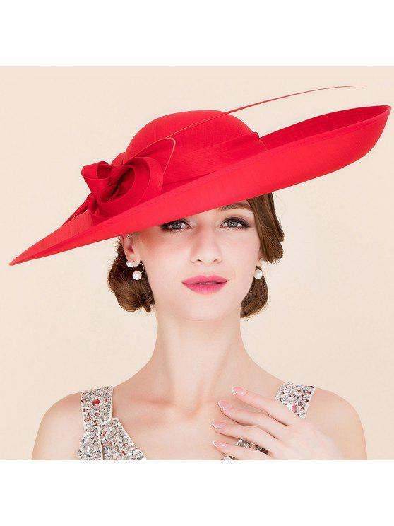 womens Elegant Red Cocktail Hat - RED