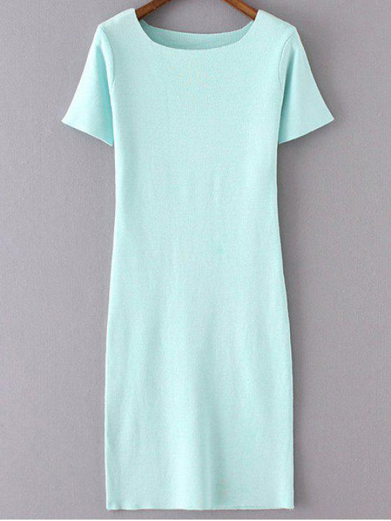 shops Pure Color Sweater Dress - LAKE BLUE ONE SIZE(FIT SIZE XS TO M)