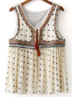 Delicate Embroidery Short Waistcoat - Off-white S