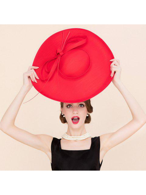 womens Elegant Red Cocktail Hat -   Mobile