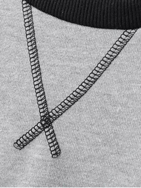 best Zip Hem Gray Sweatshirt - GRAY S Mobile