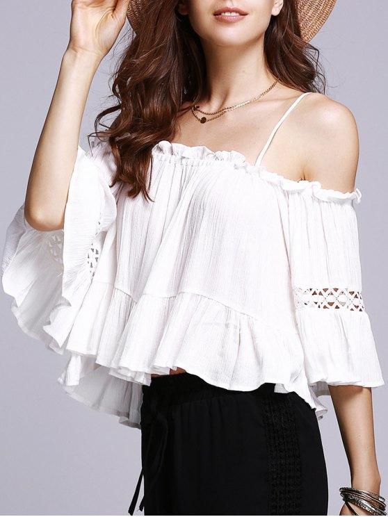 buy Cold Shoulder Cami Blouse - WHITE S