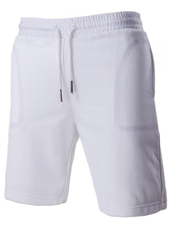 Transparent conception de poche à la mode Short Straight Leg Lace-Up For Men - Blanc 2XL